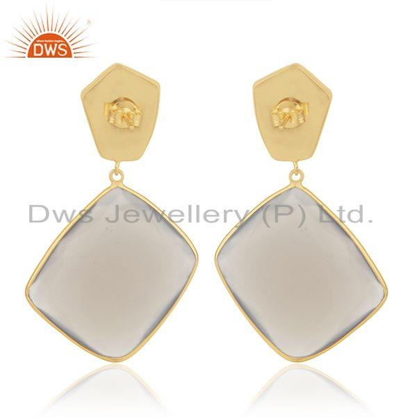 Suppliers Multi Gemstone 925 Sterling Silver Gold Plated Drop Earrings Wholesale Suppliers