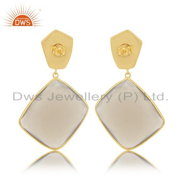 Suppliers 925 Silver Gold Plated Multi Gemstone Earring Jewelry Manufacturer for Designers