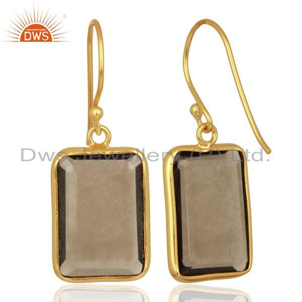 Suppliers Smoky Topaz Handcrafted Artisan Gold Plated Drop Wholesale Jewelry