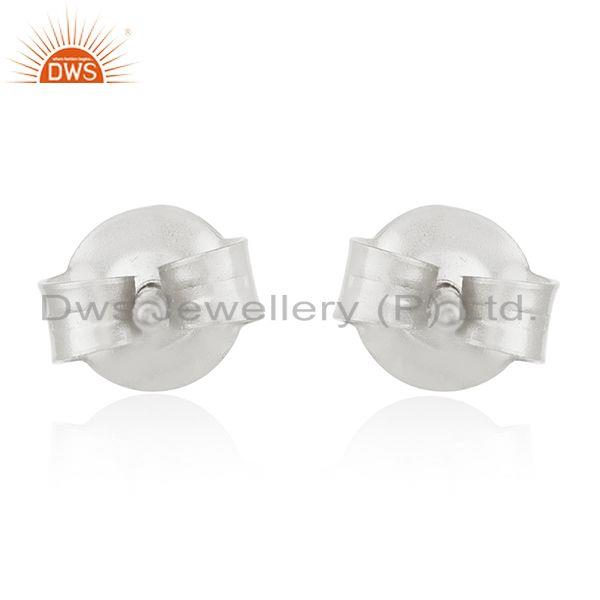 Suppliers Natural Pearl Gemstone Fine Sterling Silver Stud Earring Wholesale