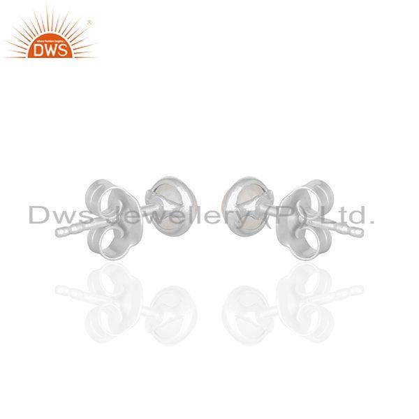 Suppliers Rose Quartz Gemstone 925 Sterling Silver Earrings Jewelry Manufacturer