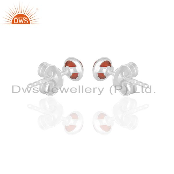 Suppliers Small Onyx Gemstone Tiny Stud Earring Jewelry Manufacturer of India