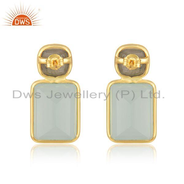 Suppliers Labradorite Aqua Chalcedony Gemstone Earring Jewelry Supplier