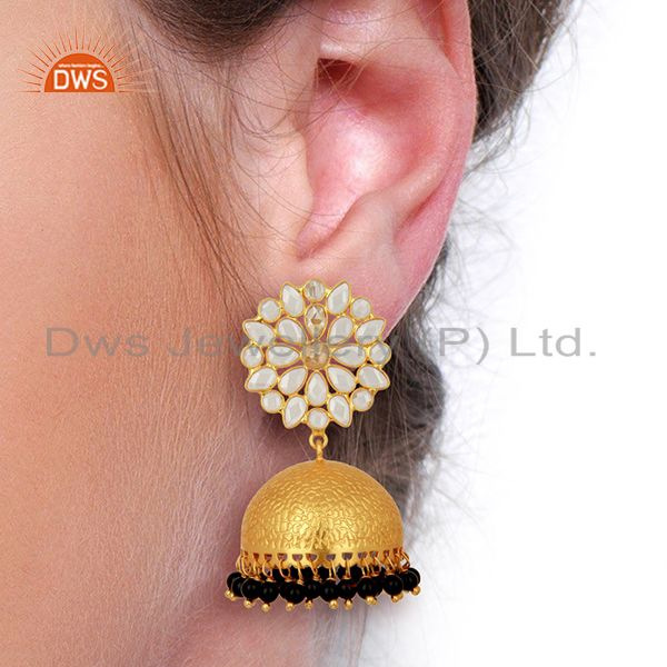 Suppliers Wholesale Gold Plated Indian Traditional Earrings Gemstone Jewelry