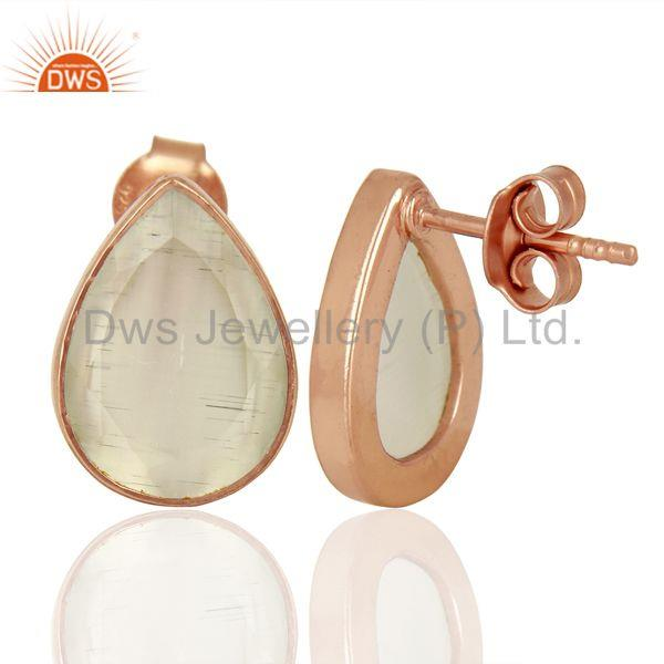 Suppliers White Moonstone Silver Gemstone Earrings Jewelry Manufacturer Supplier