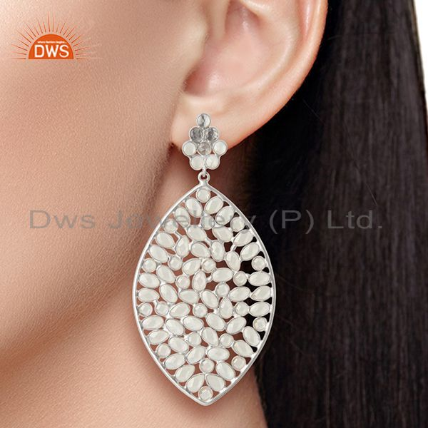 Suppliers Wholesale 925 Sterling Silver CZ Gemstone Indian Earring Jewelry