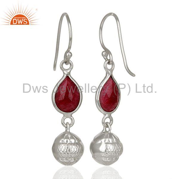 Suppliers Filigree Design Round 925 Silver Gemstone Earrings Jewelry Supplier