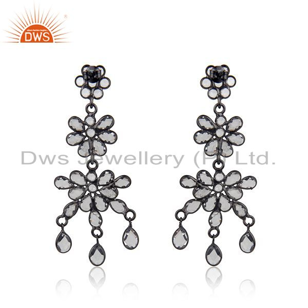 Suppliers Designer Rhodium Plated CZ Earrings Jewelry Manufacturer