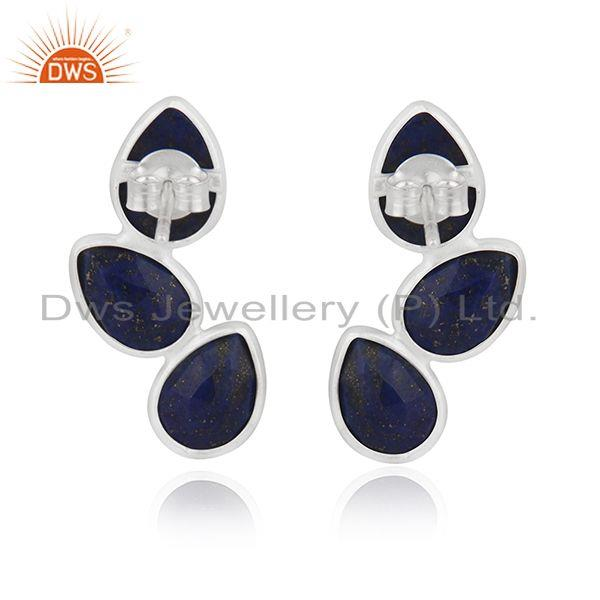 Suppliers Lapis Lazuli Gemstone Fine Sterling Silver Earring Manufacturer of Jewelry