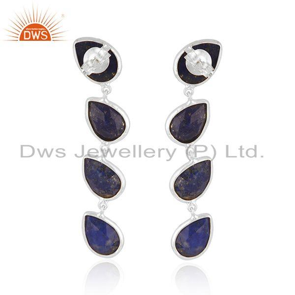 Suppliers Manufacturer Sterling Silver Lapis Gemstone Dangle Earrings Jewelry