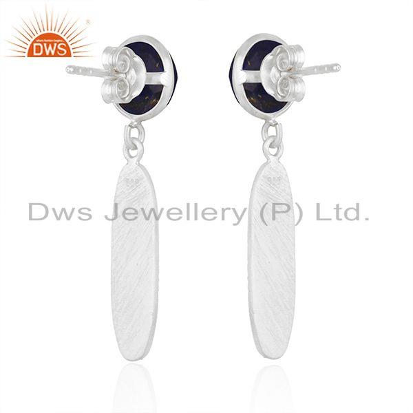 Suppliers New Arrival Sterling Silver Natural Lapis Gemstone Earrings Jewelry