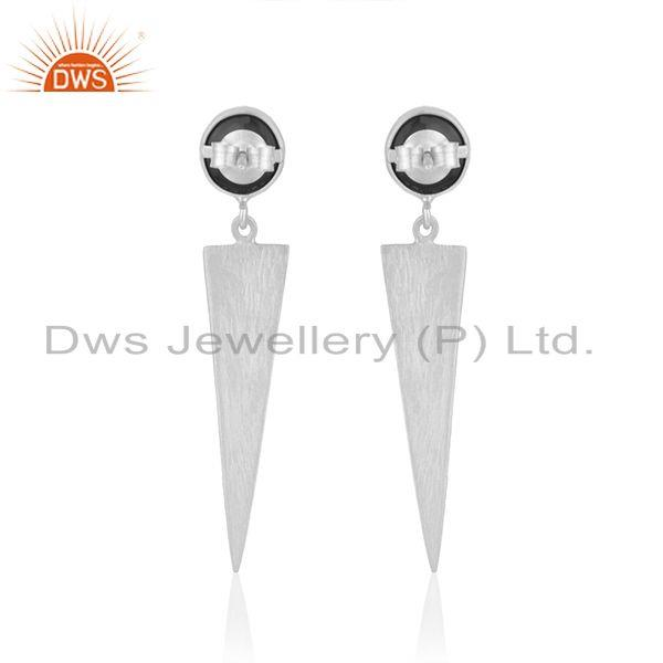 Suppliers New Designer Fine Silver Natural Black Onyx Earrings Jewelry