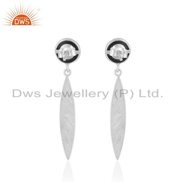 Suppliers Manufacturer Fine Silver Natural Black Onyx Gemstone Earrings Jewelry