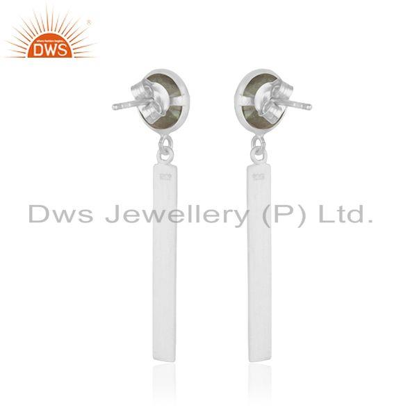 Suppliers Labradorite Gemstone Fine Sterling Silver Dangle Earring Suppliers India