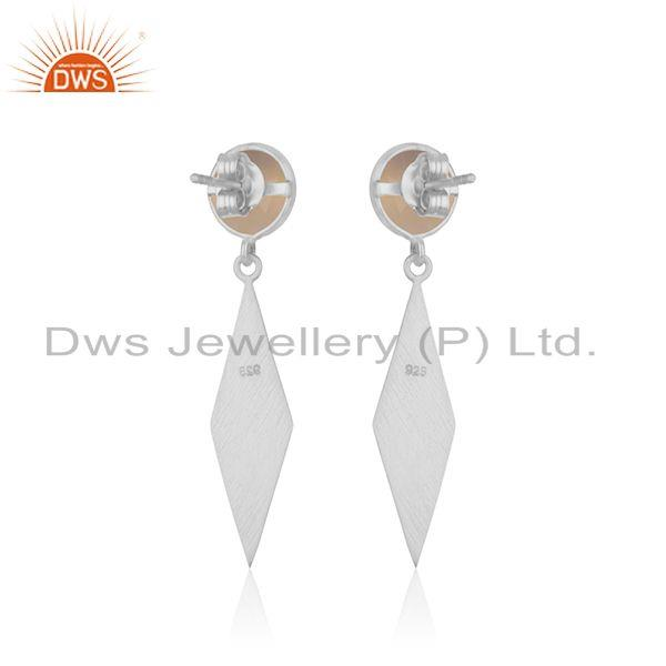 Suppliers Rose Chalcedony Gemstone Sterling 925 Silver Earrings Wholesale Suppliers