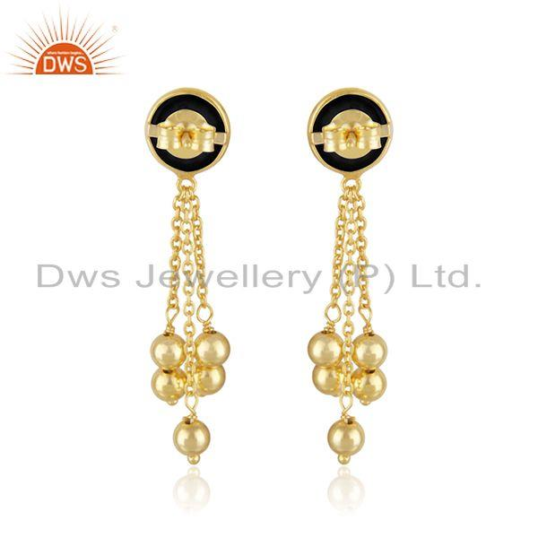 Suppliers Gold Plated Designer 925 Silver Chain Earrings Jewelry Supplier
