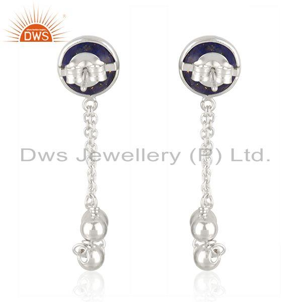Suppliers New Designer Sterling Silver Natural Lapis Earrings Jewelry Supplier