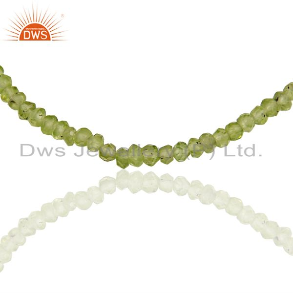Suppliers Peridot Gemstone Sterling Silver Necklace Jewelry Manufacturer