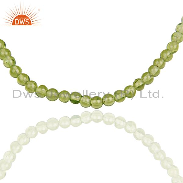 Suppliers Peridot Gemstone Wholesale Fine Silver Chain Necklace Manufacturer