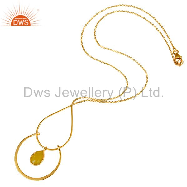 Suppliers Traditional Design 18K Gold PLated 925 Sterling Silver Pendant Chain Necklace