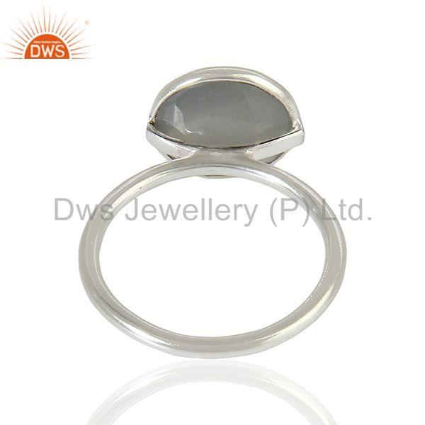 Suppliers Moonstone 925 Silver Bezel Set Gemstone Rings wholesale Jewelry
