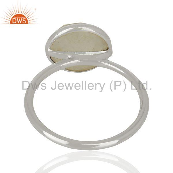 Suppliers Rainbow Moonstone 925 Sterling Fine Silver Gemstone Ring Jewelry