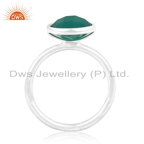 Suppliers Green Onyx Gemstone 925 Sterling Silver Ring Wholesale Suppliers