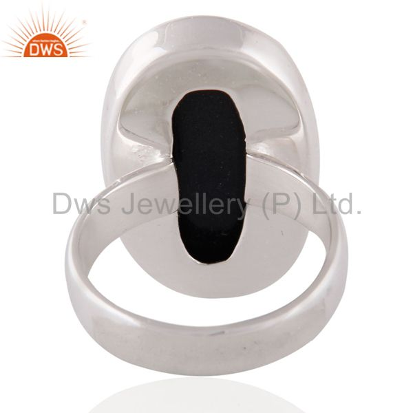 Suppliers Indian Handmade Solid Sterling SIlver Black Onyx Gemstone Ring SZ 8