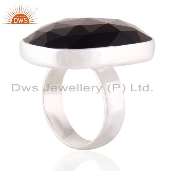 Designers India Natural Smoky Quartz Gemstone 925 Sterling Silver Bezel Setting Ring