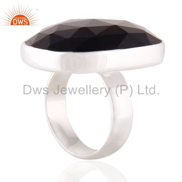Suppliers India Natural Smoky Quartz Gemstone 925 Sterling Silver Bezel Setting Ring