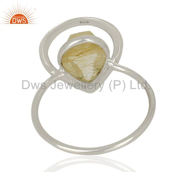 Suppliers Designer 925 Sterling Silver Rutile Gemstone Ring Jewelry Supplier