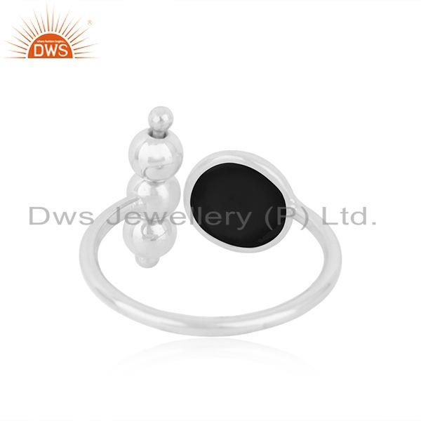 Suppliers Black Onyx Fine Sterling 92.5 Silver Gemstone Ring Manufacturer INdia