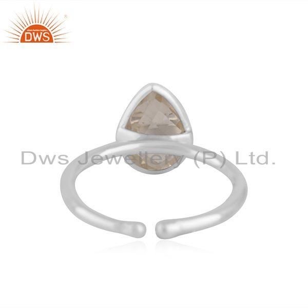 Suppliers Crystal Quartz Fine Sterling Silver Handmade Ring Jewelry For Girls Wholesale