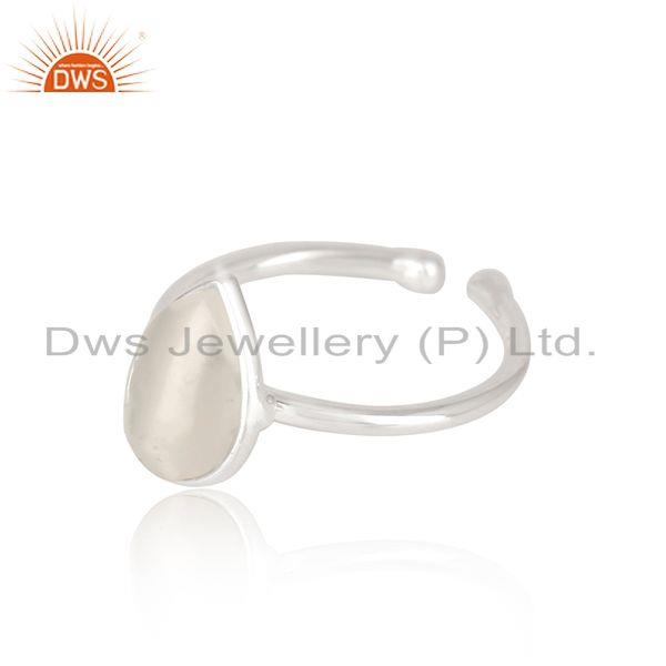Suppliers Natural White Pearl Fine Sterling Silver Ring Manufacturer in Jaipur