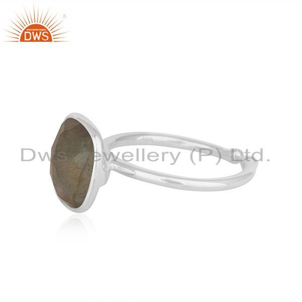 Suppliers Black Onyx Gemstone 92.5 Sterling Fine Silver Ring Manufacturer INdia