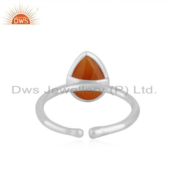 Suppliers Red Onyx Gemstone Fine Sterling Silver Handmade Ring Jewelry Manufacturer India
