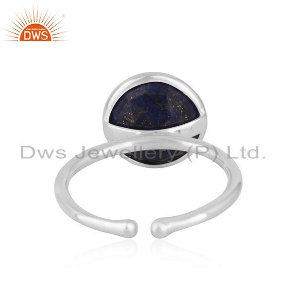 Suppliers Lapis Lazuil Gemstone Handmade 925 Sterling Silver Promise Ring Wholesaler India