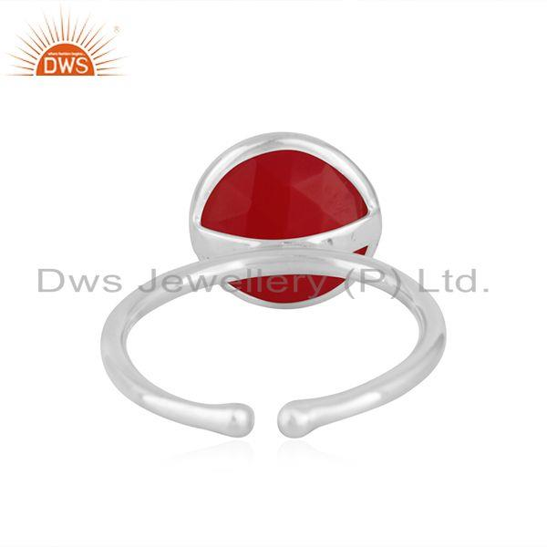 Suppliers Pink Chalcedony Gemstone Fine Sterling Silver Ring Manufacturer Jaipur