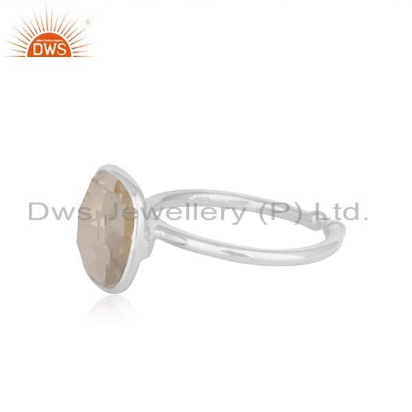 Suppliers Handmade Fine Sterling Silver Crystal Quartz Ring Manufacturer India