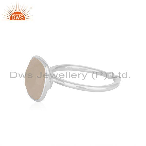 Suppliers Rainbow Moonstone Handmade 925 Sterling Fine Silver Ring Wholesale