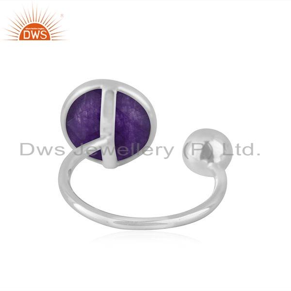 Suppliers Natural Aventurine Gemstone Designer Fine Silver Rings Jewelry