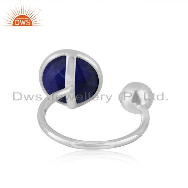 Suppliers Natural Lapis Gemstone Designer 925 Silver Womens Rings Jewelry