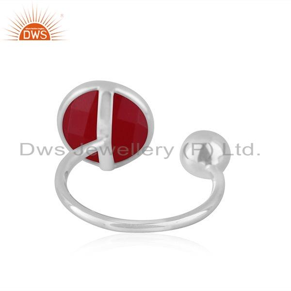 Suppliers Pink Chalcedony Gemstone Manufacture Sterling Silver Rings Jewelry