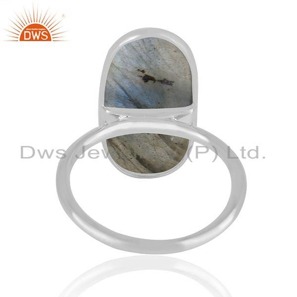 Suppliers Handmade Fine Sterling Silver Labradorite Gemstone Statement Ring