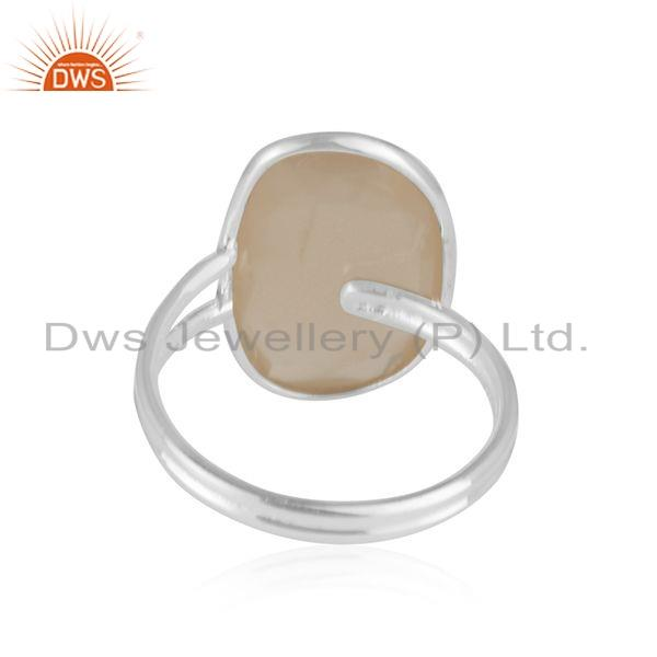 Suppliers Natural Moonstone Designer Sterling Fine Silver Ring Jewelry