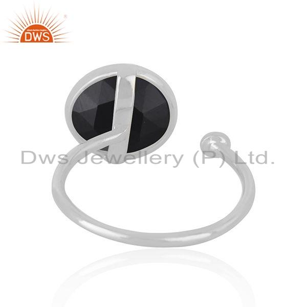 Suppliers Sterling Silver Designer Black Onyx Gemstone Ring Jewelry For Girls