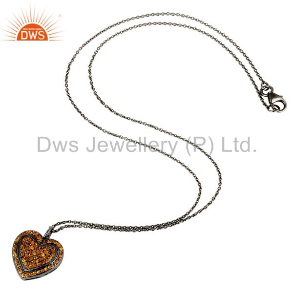 Spessartite Garnet Pendant And Necklace Gemstone Jewelry