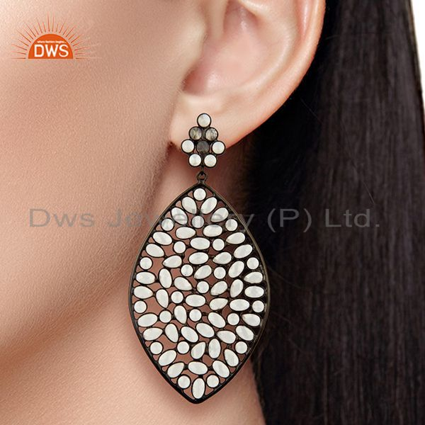 White Zircon Earrings Manufacturer