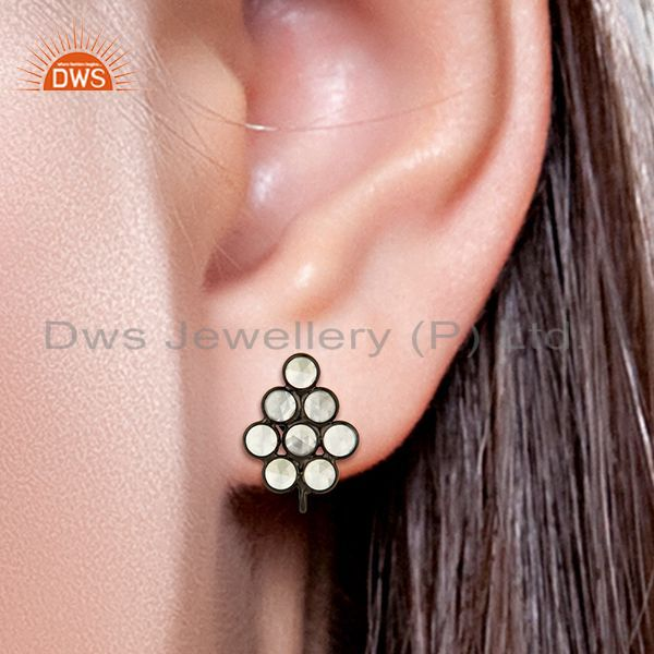 Cz Gemstone Earrings Connectors Jewelry Manufacturer