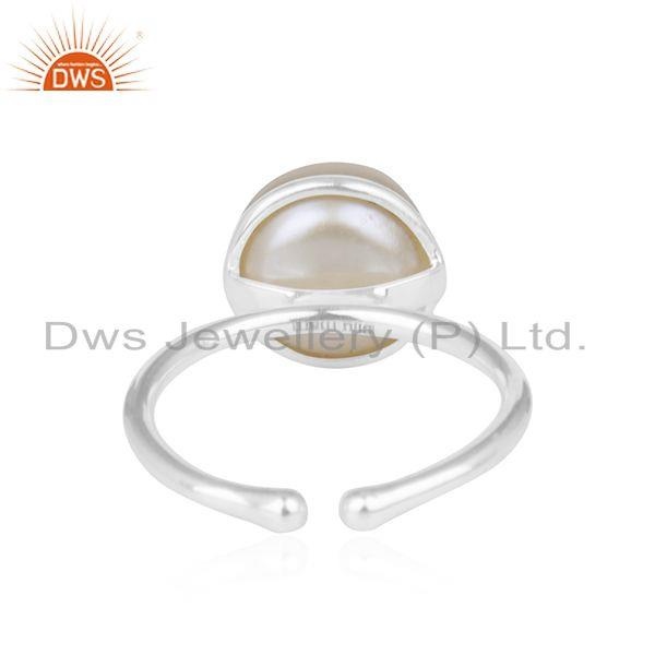 Natural Pearl Birthstone Ring Manufacturer in Jaipur